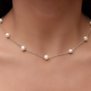 Jewelry - Genuine Freshwater Pearl Necklace Sterling Silver